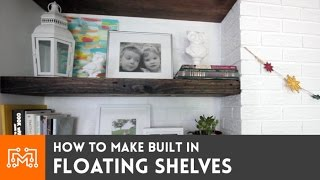 How To Make Built In Floating Shelves