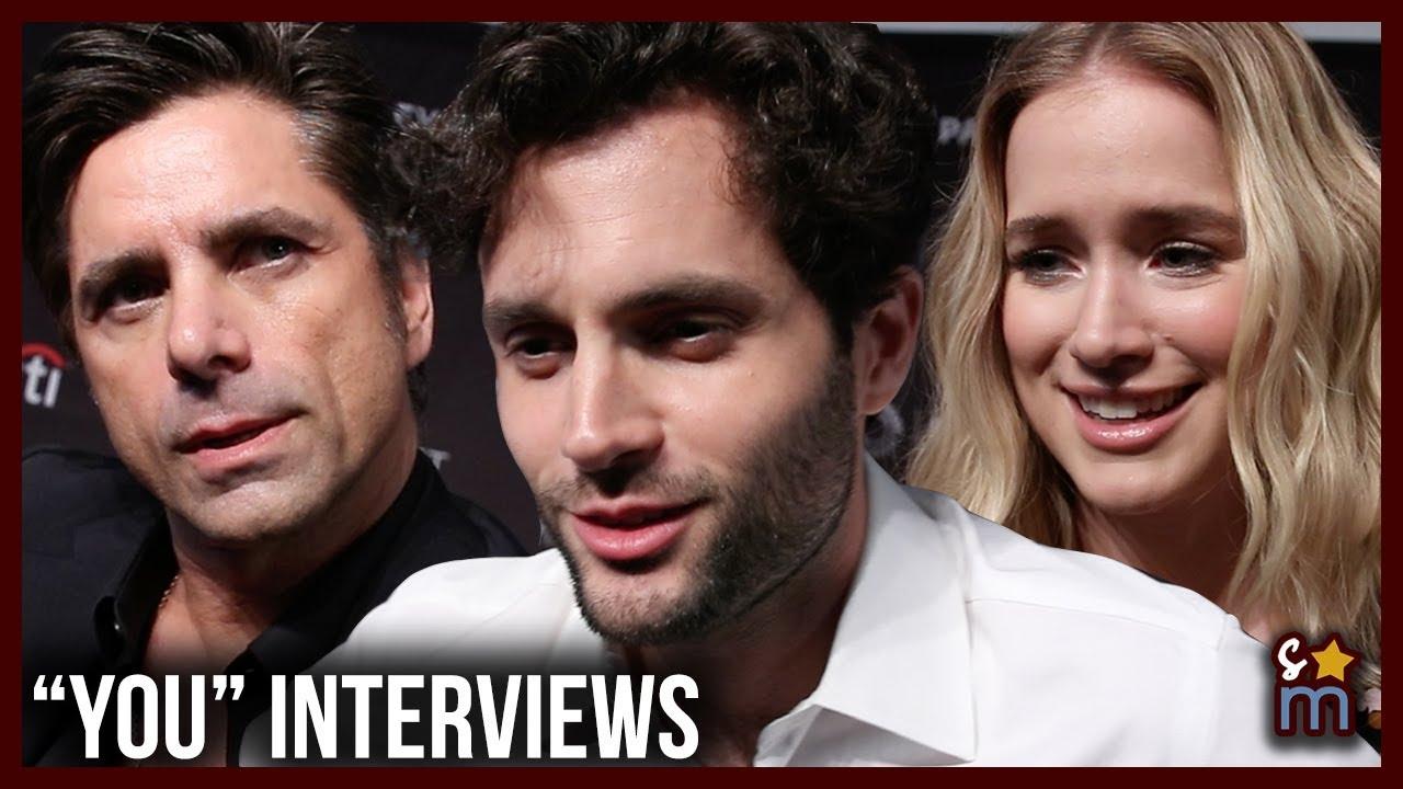 YOU Cast Talk Social Media, Season 1, Joe & Beck's Love   Penn Badgley,  John Stamos, Elizabeth Lail
