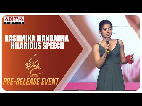 Rashmika Mandanna Hilarious Speech @ Bheeshma Pre Release Event LIVE | Nithiin | Venky Kudumula