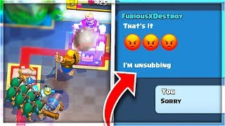 I BEAT MY SUBSCRIBER and THIS HAPPENED NEXT in Clash Royale...