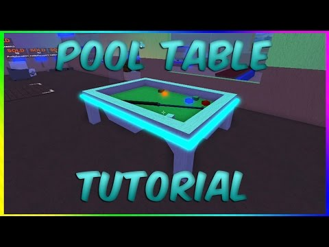 How To Make A Pool Table! Roblox Lumber Tycoon 2 (Tutorial)