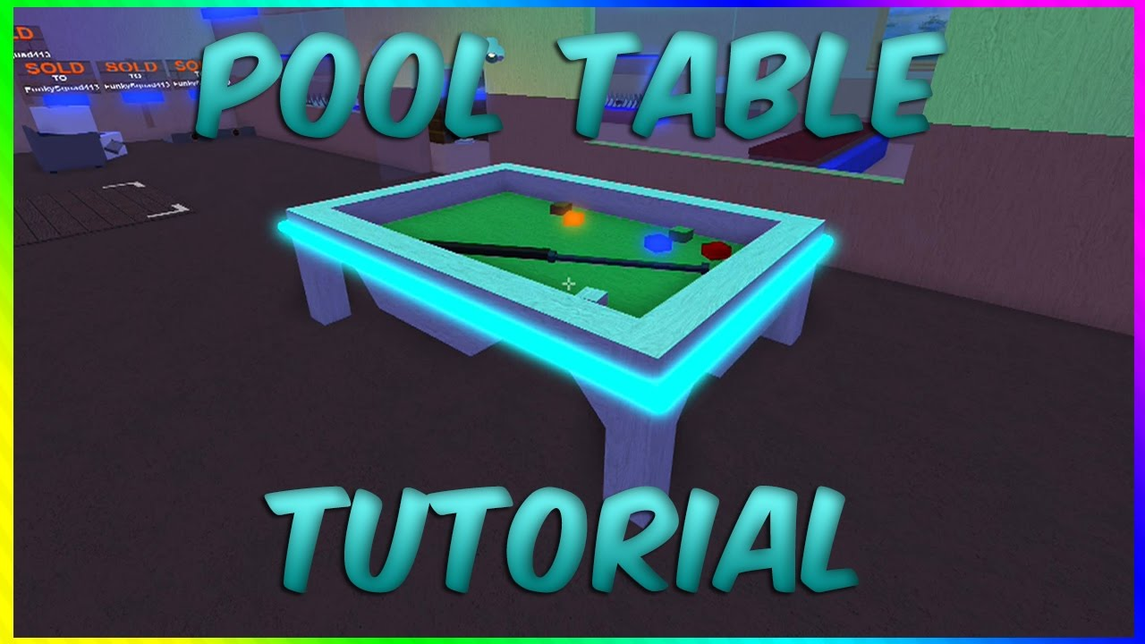 How To Make A Pool Table! Roblox Lumber Tycoon 2 (Tutorial)   YouTube