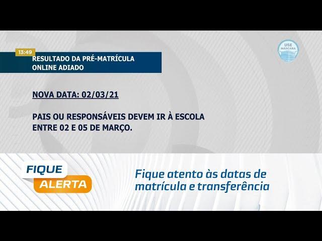 Rede Municipal de Ensino: Fique atento às datas de matrícula e transferência