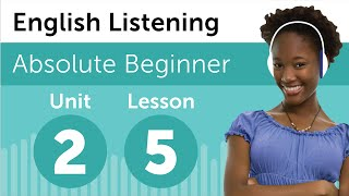 English Listening Comprehension - Making Plans For The Day In English