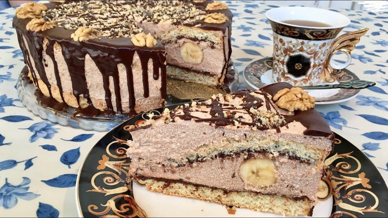 Tort reseptleri - Bananli tort, sirniyyat reseptleri