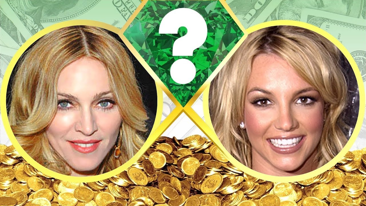 WHO'S RICHER? - Madonna or Britney Spears? - Net Worth ...