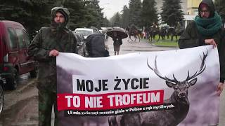 Hubertus w Węgrowie 2017 - blokada polowania