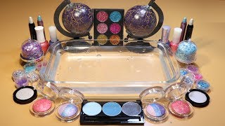 "Special Theme Series #3""GALAXY""Mixing EYESHADOW And glitter Into Clear Slime! ""Galaxy Silme"""