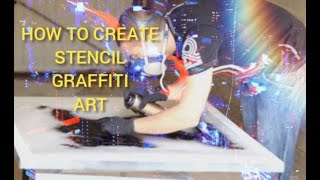 How to make STENCIL GRAFFITI ART - Banksy Example