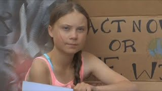 Swedish Teen Climate Activist Greta Thunberg Takes Part In Protest Near Un