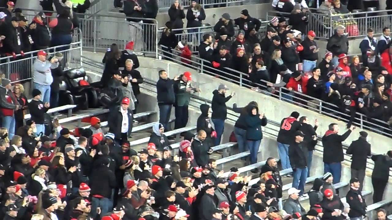 f1eeba3ae Ohio State Marching Band Ramp Entrance Dark Night in the Shoe - YouTube