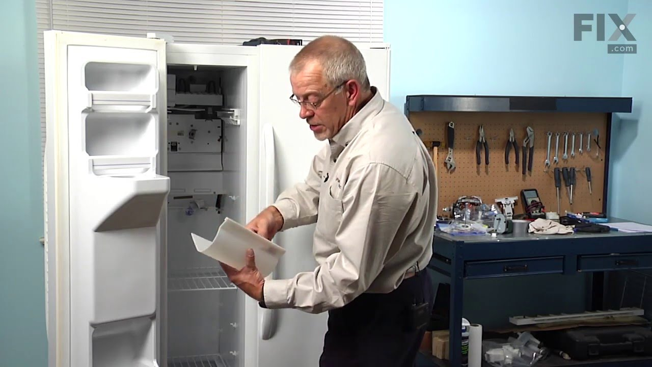 Ge Refrigerator Repair How To Replace The Evaporator Fan