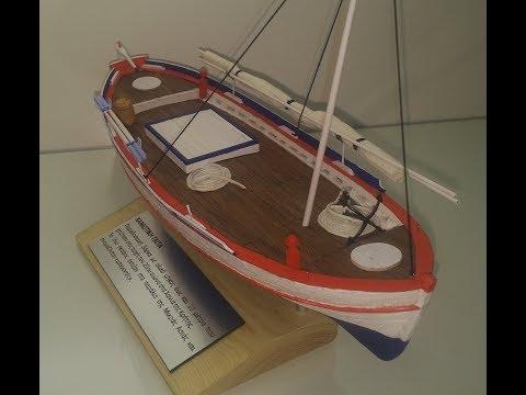 """CHANIOTIKI GAITA""- CRETAN TRADITIONAL BOAT MODEL BUILD - From the Navarino Models Kit"
