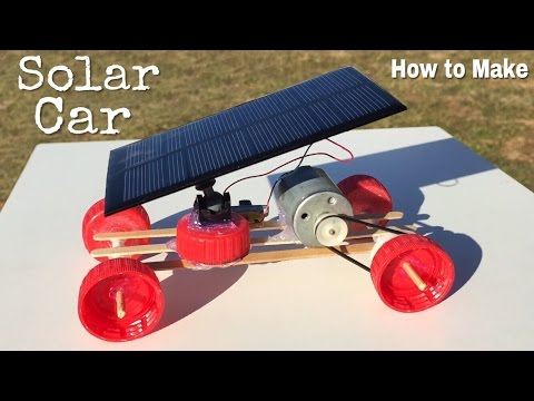 How to Make a Car - Mini Solar Powered Car - Easy to Build