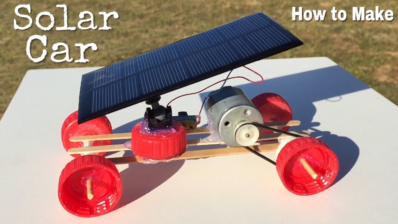 How to make a car mini solar powered car easy to build for How to make a solar panel for kids