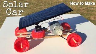 How to Make a Car - Mini Solar Powered Car - Easy to Build