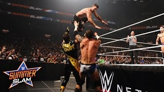 WWE Network: Neville & Stephen Amell vs. Stardust & King Barrett: SummerSlam 2015