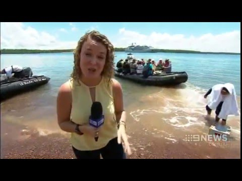 Nine News Darwin -  Le Soleal Maiden Visit To Tiwi Islands