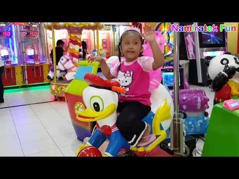 Naik Odong Odong Berbentuk Hewan Lucu donal bebek | Kiddie Rides play mini merry indoor Playground