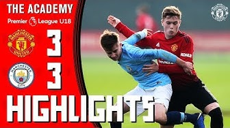 U18 Highlights | Manchester United 3-3 Manchester City | The Academy