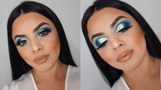 VIBRANT BLUE CUT CREASE   JAMES CHARLES PALETTE   ELEMAN BEAUTY   Drea Makeup
