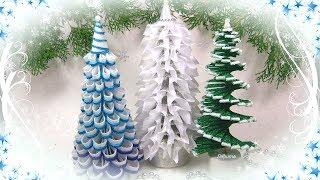 Ёлка своими руками из разных материалов 3 идеи / diy Christmas tree