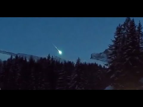Meteorite video: Celestial object falls near French ski resort