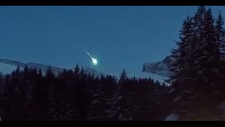 Meteorite video: Celestial object falls near French ski resort