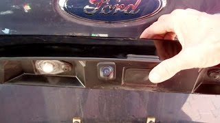 Backup camera installation on a 2005 Ford Expedition XLS