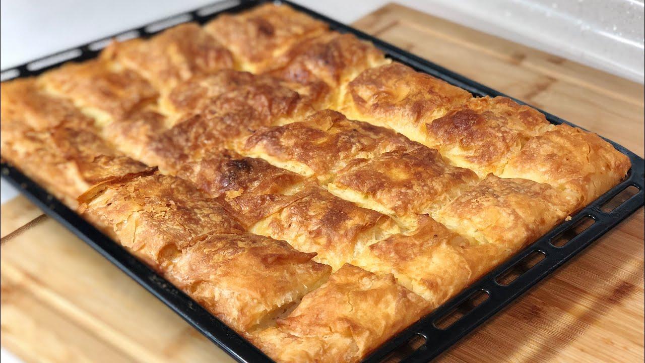 5 Dakikada Tepsi Böreği 💯İster Fırına At İster Buzluğa 👍 Puf Puf  Efsane Börek👉🏻Seval Mutfakta