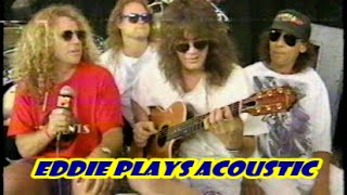 """Eddie Van Halen plays acoustic guitar on """"Finish What You Started"""""""