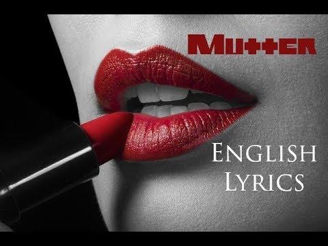 RAMMSTEIN Mutter English Lyrics HD