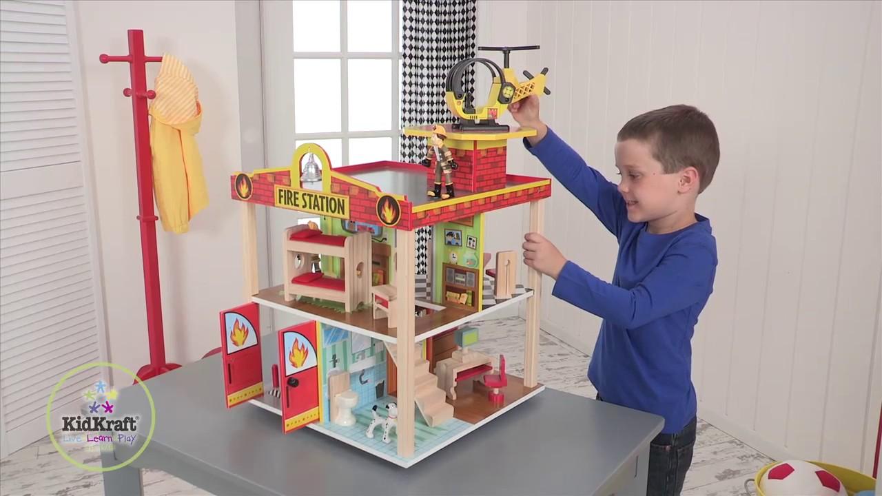 Kidkraft Wooden Fire Station Play Set Item 63236