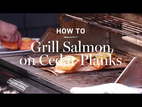 how-to-grill-salmon-on-cedar-planks-|-williams-sonoma