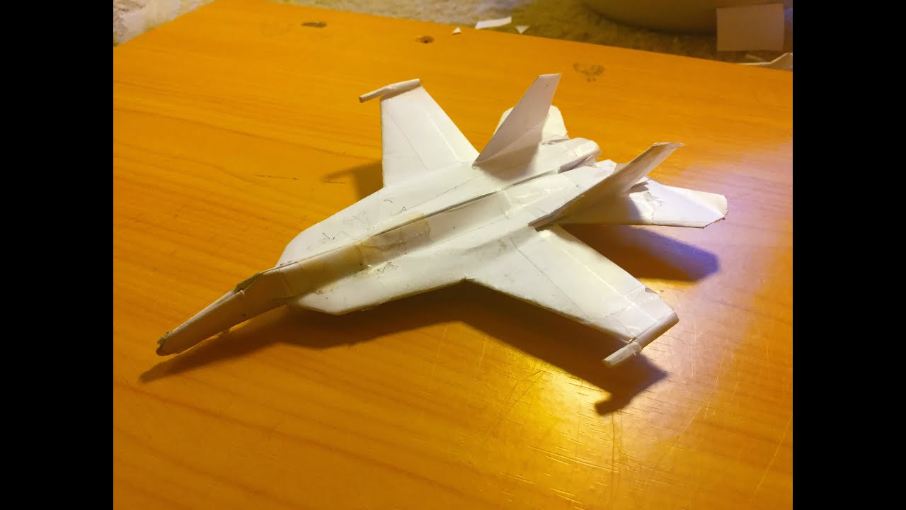 how to make the f 18 super hornet paper airplane youtube rh youtube com
