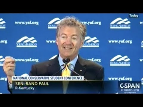 Rand Paul Speech To Conservative Youths On Freedom And The Over Intrusive Police State