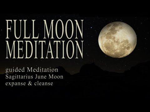 FULL MOON Meditation June 2020 Guided   Sagittarius + Luna Eclipse   Rebirth & Cleanse