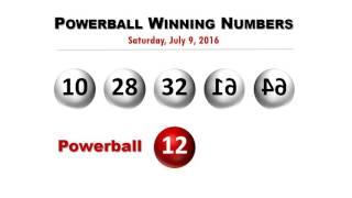 Powerball Winning Numbers 7/9/2016; Jackpot rolls to $311 million