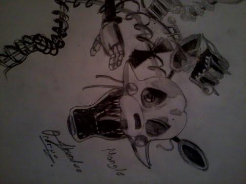 Como dibujar a foxy chibi de five nights at freddy s doovi
