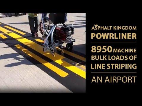 PowrLiner 8950 Machine Line Striping An Airport | Asphalt Kingdom