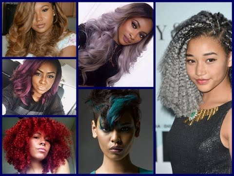 summer-hair-color-trends-for-black-women---black-hair-color-ideas-and-inspirations