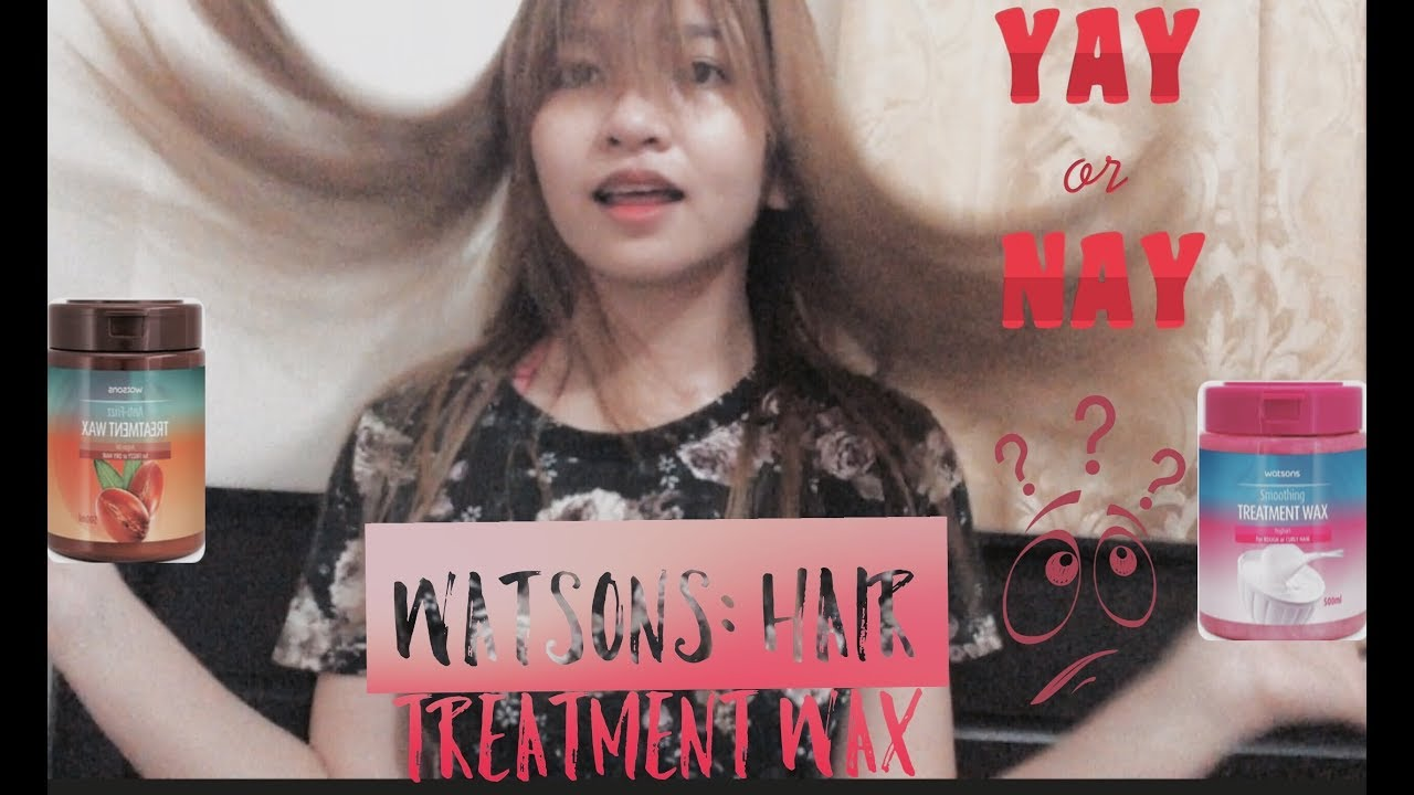Hair Treatment Wax From Watsons Review Juneth Gomez Youtube
