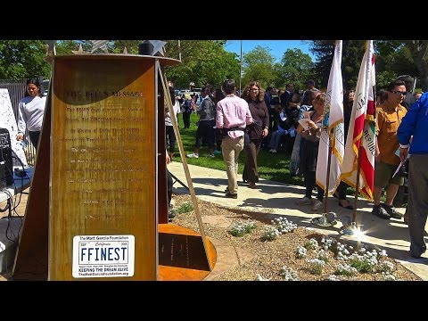 Matt Garcia Community Art Sculpture Unveiling Ceremony | National Crime Victims Right's Week 2017