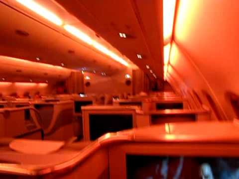 Emirates Airbus A380 In Flight Mood Lighting Youtube
