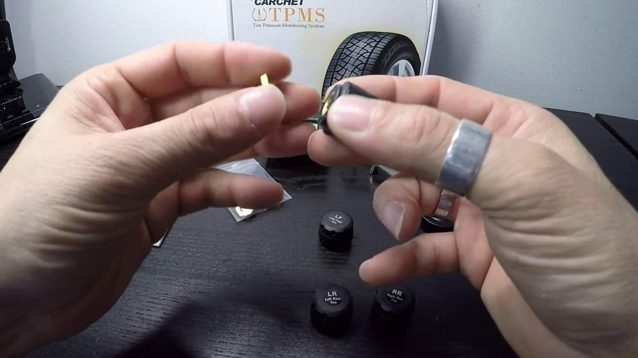 Blcak EBTOOLS Sistema di monitoraggio della pressione dei pneumatici TPMS wireless solare Allarme monitor LCD con 6 sensori esterni porta mini USB