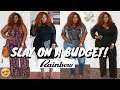 YES INDEED! SLAY ON A BUDGET! PLUS SIZE RAINBOW SHOPS HAUL! | PLUS SIZE FASHION