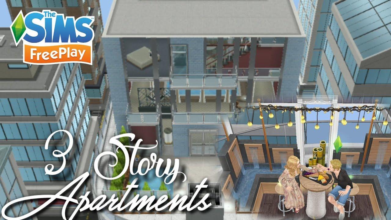 Apartment 3 Lantai Super Mewah Remodel House Design The Sims Freeplay Indonesia Youtube