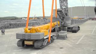 Liebherr - LR 1600/2 crawler crane using the LTR 1220 as counterweight