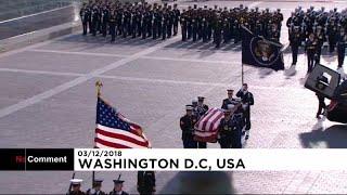 الرئيس جورج بوش الأب يعود إلى واشنطن في رحلة أخيرة