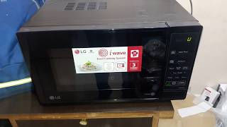 how to use LG 20 Litres solo microwave oven model MS2043DB full demo